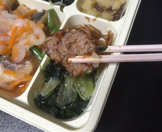 肉団子の中国野菜添え